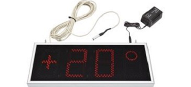 Clock-thermometer display