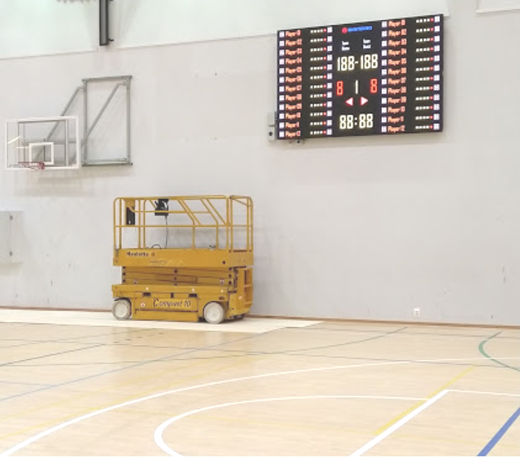 DT-SPORT VIDEO PRO LED screen in Lieto sports hall