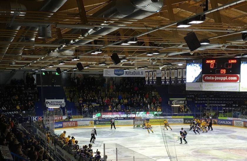 DT-SPORT ice hockey scoreboard cube in Mikkeli