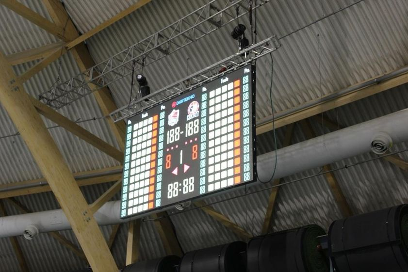 DT-SPORT VIDEO PRO LED screen scoreboard in Joensuu Arena